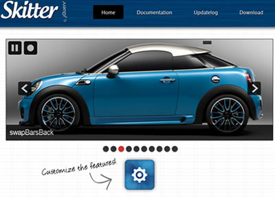 Skitter – A jQuery Slideshow Plugin With Flexible Animations