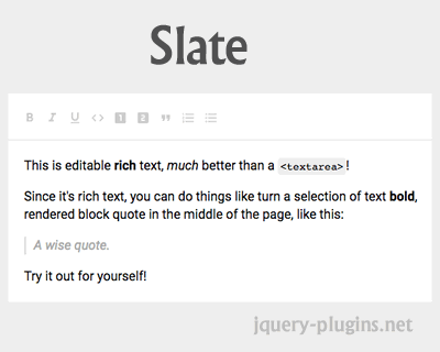 Slate – Customizable Framework for Building Rich Text Editors