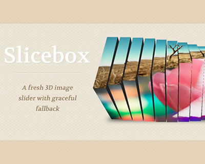 Slicebox - 3D Image Slider With Graceful Fallback