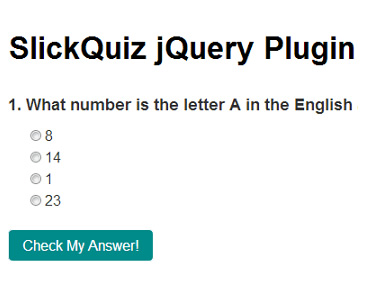 SlickQuiz – jQuery Plugin to Create Quizzes