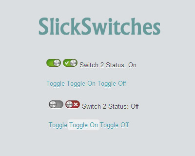SlickSwitches – Well styled Checkbox jQuery Plugin