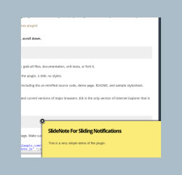 Slide Note For jQuery