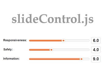 slideControl – jQuery Plugin for Input Slider