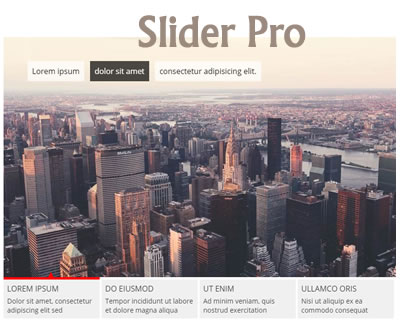 Slider Pro – Responsive and Touch Enabled jQuery Slider
