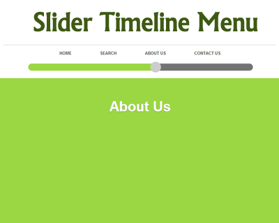 Slider Timeline Menu with CSS3 and jQuery