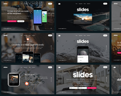 Slides Framework – Create Websites with Stunning Animations