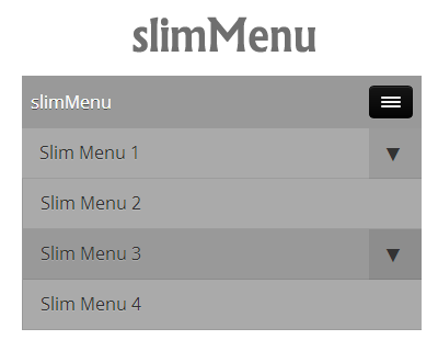 slimMenu – jQuery Multi-Level and Responsive Menu