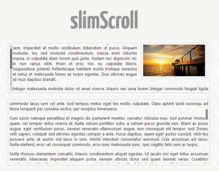 slimScroll – jQuery Plugin for Scrollbars