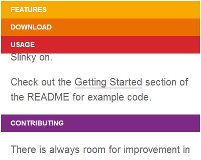 Slinky.js – Scrolling Navigation Component for Web Apps