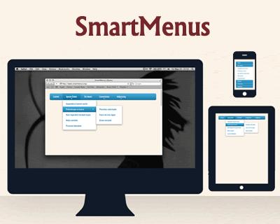SmartMenus – Responsive jQuery Menu Plugin