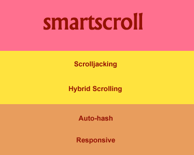 smartscroll – jQuery Plugin for Scrolljacking & Auto-Hashing