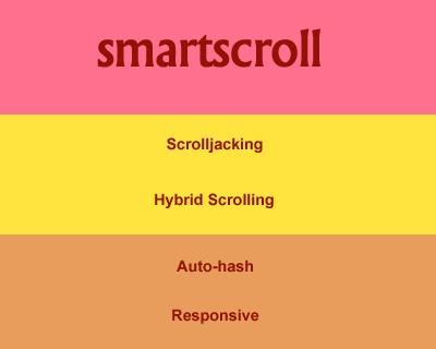 smartscroll – jQuery Plugin for Scrolljacking & Auto-Hashing