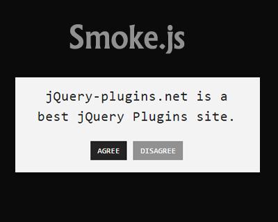 Smoke.js – Framework Agnostic Styled Alert System for Javascript