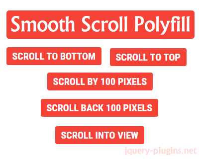 Smooth Scroll Behavior Polyfill