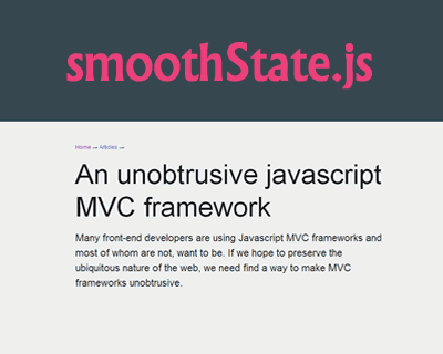 smoothState.js – jQuery Plugin for Neat Page Transitions
