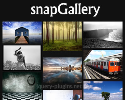 snapGallery.js – Responsive jQuery Gallery Plugin