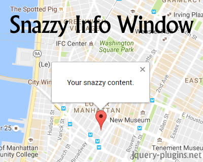 Snazzy Info Window – Customizable Info Windows using Google Maps API