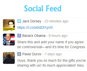 Social Feed – jQuery Plugin for Feeds from Social Networks