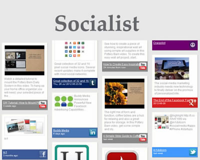 Socialist – jQuery Social Plugin to Create and Combine Feeds from Social Networks