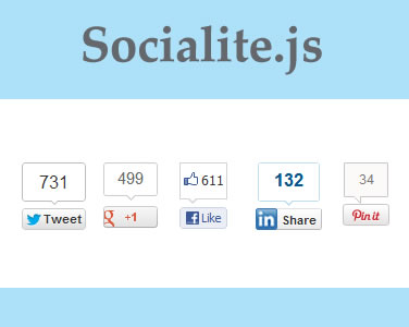 Socialite.js – Plugin for Social Sharing Buttons