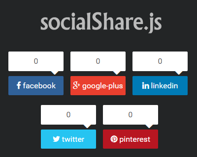 socialShare.js – jQuery Plugin for Social Sharing Buttons