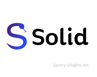 Solid – Declarative and Flexible User Interface Library with JavaScript