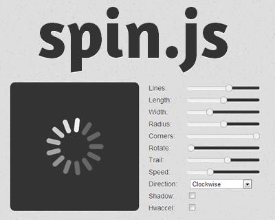 spin.js – Spinning Activity Indicator