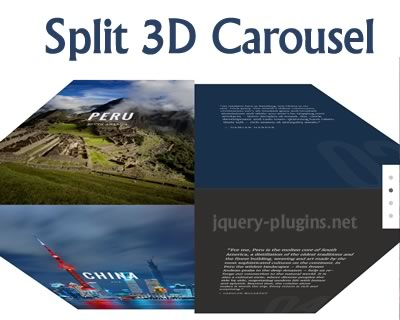 Split 3D Carousel with Javascript