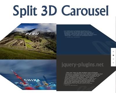 Split 3D Carousel with Javascript