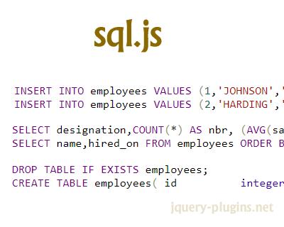 sql.js – SQLite Compiled to JavaScript