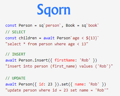 Sqorn – Javascript Library for Building SQL Queries