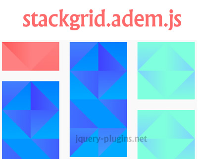 stackgrid.adem.js – Javascript Plugin to Create Dynamic Cascading Grid