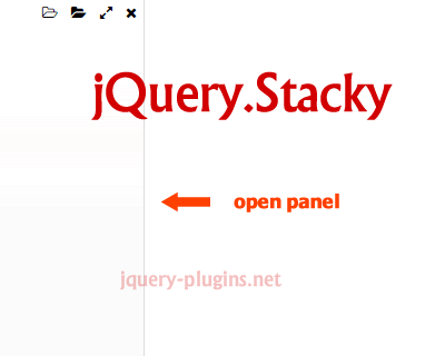 Stacky – jQuery Plugin to Create Stackable Panels