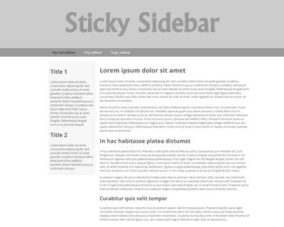 Sticky Sidebar jQuery Plugin