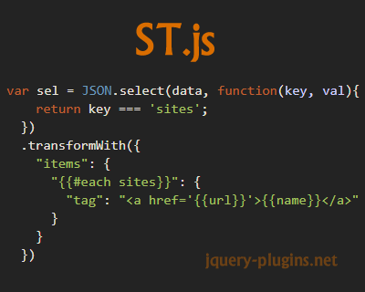 ST.js – JSON Selector & Transformer
