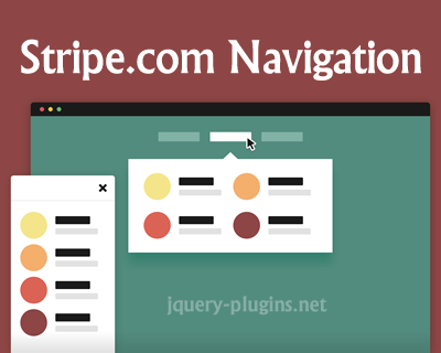 Stripe.com Navigation with CSS and jQuery
