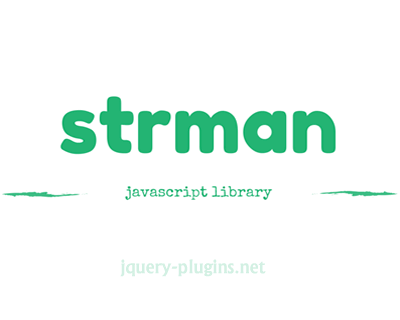 strman – Javascript String Manipulation Library
