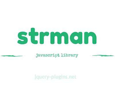 strman – Javascript String Manipulation Library