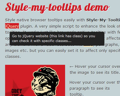 Style-My-Tooltips jQuery Plugin