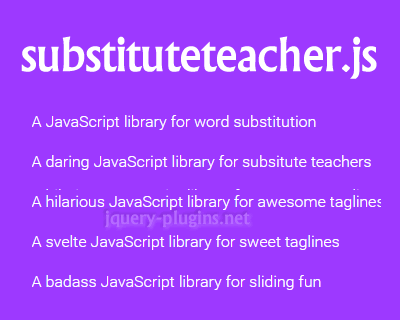 Substituteteacher.js – JavaScript Library to Substitute Sentences