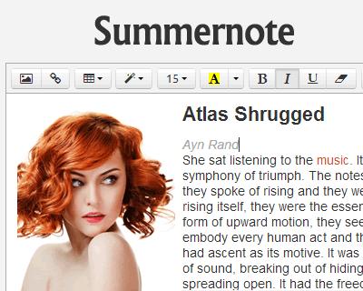 Summernote – WYSIWYG Editor on Bootstrap