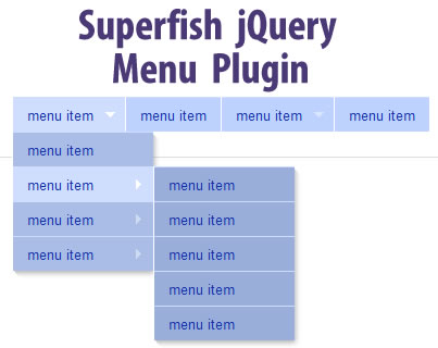 Superfish jquery menu plugin jquery plugins for J j fish menu