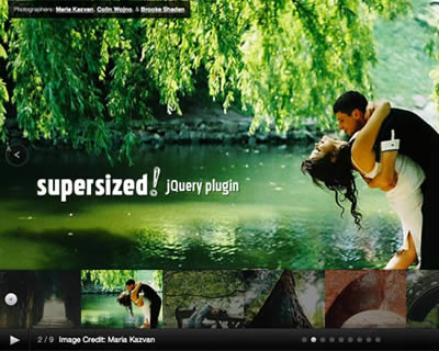 Supersized - Full Screen Background & Slideshow jQuery