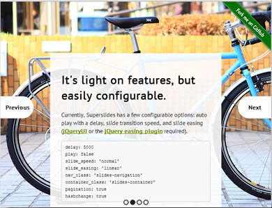 Superslides – Full Screen Slider for jQuery