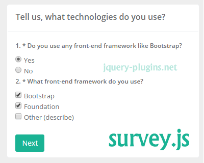Survey.js – JavaScript Survey Engine