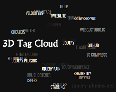 SVG 3D Tag Cloud jQuery Plugin
