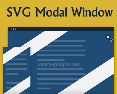 SVG Modal Window with Javascript