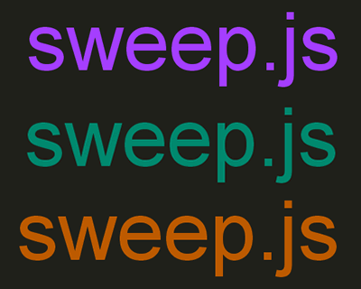 Sweep.js – JavaScript Library for Smoother Color Transitions