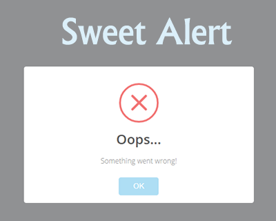 SweetAlert – Beautiful Replacement for JavaScript Alert