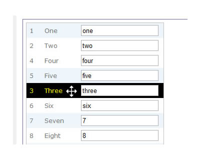 TableDnD - Table Drag and Drop jQuery Plugin